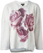 Giambattista Valli Floral Print Sweatshirt - Lyst