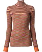 Missoni Turtle Neck Fitted Sweater - Lyst
