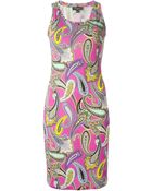 Etro Paisley Print Fitted Dress - Lyst