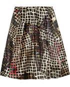 Preen By Thornton Bregazzi Sims Printed Satin Skirt - Lyst