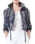 Akris Punto Hooded Pixel-Print Bolero Jacket - Lyst