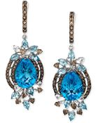 Le Vian Blue Topaz (13-1/2 Ct. Smokey Quartz (1-1/3 Ct. T.W.) And White Topaz (1/4 Ct. T.W.) Earrings In 14K White Gold - Lyst