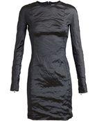 Carven Metallic Long Sleeve Dress - Lyst