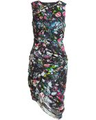 McQ by Alexander McQueen Printed Smocked Georgette Dress - Lyst
