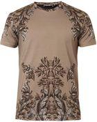 Dolce & Gabbana Floral-Print Cotton T-Shirt - Lyst