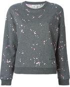 Carven Petal-Detail Cotton Sweatshirt - Lyst