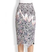 Peter Pilotto Vector Lace Pencil Skirt - Lyst
