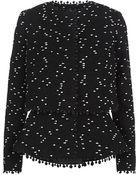 Oscar de la Renta Tweed Bouclã© Peplum Jacket - Lyst