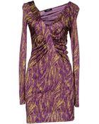 Versace Jeans Couture Short Dress - Lyst