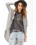 Forever 21 Open-Front Knit Cardigan - Lyst