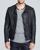 Scotch & Soda Leather Jacket - Lyst
