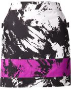 Alexander Wang Tonal Print Mini Skirt - Lyst