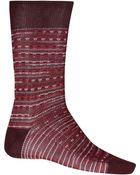 Missoni Red Intarsia Jacquard Socks - Lyst