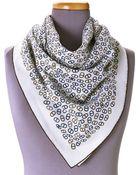 Hermès HermãˆS Ivory Foulard Scarf - Lyst