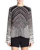 Halston Heritage Printed Blouse - Lyst