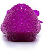 Ferragamo Spiffy Lattice Jelly Flats In Purple Lavanda
