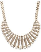 Givenchy White Glass Pearl Frontal Necklace - Lyst