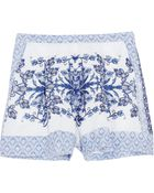 Collette By Collette Dinnigan Printed Linen Shorts - Lyst