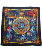 Hermès Pre-Owned Joies D' Hiver Silk Scarf - Lyst