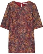 Elizabeth And James Mallory Printed Silk-Blend Mini Dress - Lyst