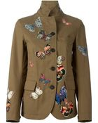 Valentino Stitched Butterfly Jacket - Lyst