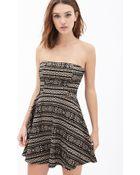Forever 21 Tribal-Inspired A-Line Dress - Lyst