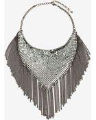 Nasty Gal Handkerchief Chain Necklace - Lyst