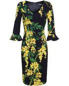Dolce & Gabbana Floral Print Crepe Dress - Lyst