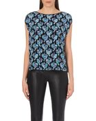 Emilio Pucci Butterfly-Print Silk Top - For Women - Lyst