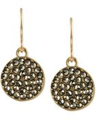 Kenneth Cole Gold-Tone Glass Crystal Circle Drop Earrings - Lyst