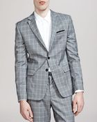 The Kooples Highlight Prince Of Wales Check Suit Jacket - Lyst