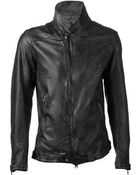 Giorgio Brato Distressed Leather Jacket - Lyst