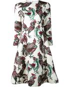 Rochas Rooster Dress - Lyst