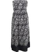 Tibi Embroidered Eyelet Strapless Dress - Lyst