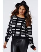 Missguided Plus Size Fluffy Knit Jumper Black - Lyst