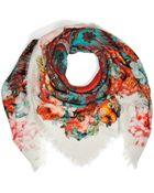 Etro Wool-Silk Printed Scarf - Lyst