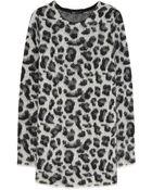 Maje Kapsule Leopard-Intarsia Metallic Knitted Sweater - Lyst
