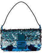 Fendi Baguette Sequin-Embellished Silk Shoulder Bag - Lyst