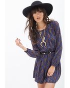 Forever 21 Paisley Print Fit & Flare Dress - Lyst