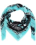 McQ by Alexander McQueen Green Graphic Letter Print Modal Scarf - Lyst
