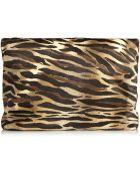 Tamara Mellon Dazzle Animal-Print Calf Hair Clutch - Lyst