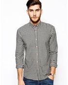 Selected Gingham Shirt - Lyst