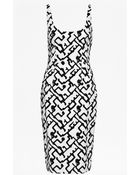 French Connection Downtown Grid Strappy Dress - Lyst