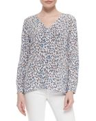 Joie Michi Long-Sleeve Printed Blouse - Lyst