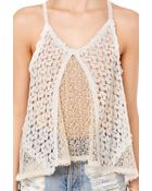 Akira Crochet Camisole - Lyst