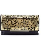Christian Louboutin Rougissime Floral Laser-Cut Leather Clutch Bag - Lyst