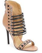 L.A.M.B. Savana Leather Sandal/Natural - Lyst