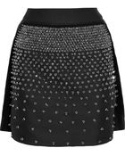 Antonio Berardi Embellished Satin-Twill Mini Skirt - Lyst