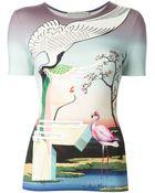 Mary Katrantzou 'Flamingo' T-Shirt - Lyst