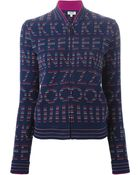Kenzo Embroidered Bomber Jacket - Lyst